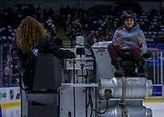 KELOWNA, CANADA - NOVEMBER 10:  Orchard Park Zamboni Rider at the Kelowna Rockets game on November 10, 2017 at Prospera Place in Kelowna, British Columbia, Canada.  (Photo By Cindy Rogers/Nyasa Photography,  *** Local Caption ***