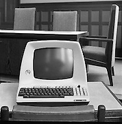 Nederland, Nijmegen, 21-5-1984Een van de eerste computers, de Lear Siegler 3a+.Foto: Flip Franssen/Hollandse Hoogte