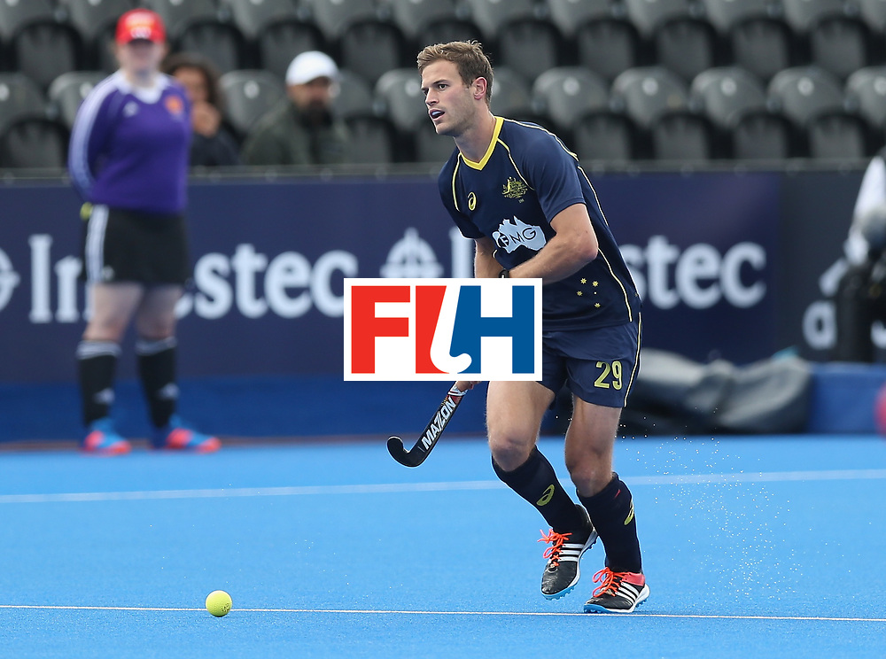 LONDON, ENGLAND - JUNE 16: Andrew Philpott of Australia during the FIH Mens Hero Hockey Champions Trophy match between Australia and India at Queen Elizabeth Olympic Park on June 16, 2016 in London, England.  (Photo by Alex Morton/Getty Images)