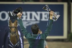 Guerdat Steve, (SUI) winner of the Longines FEI World Cup™ Jumping Final<br /> Las Vegas 2015<br />  © Hippo Foto - Dirk Caremans<br /> Final III round 2 20/04/15