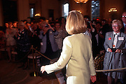 Hillary Clinton attends the first White House gathering of the Hillary Clinton Fan Club at the East Room in Washington, DC.