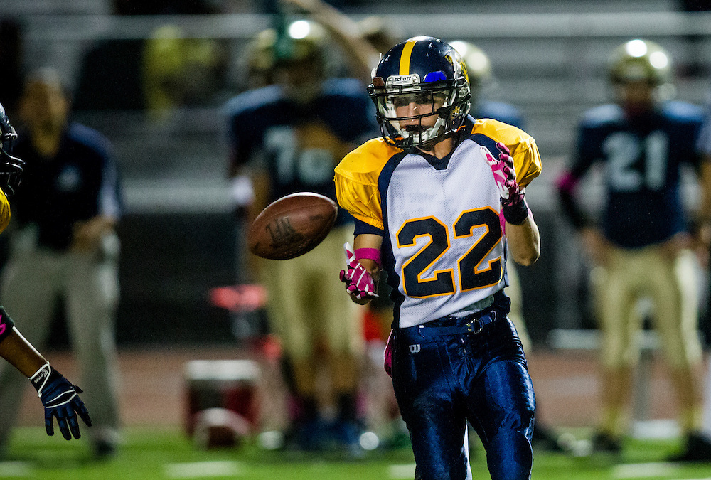 Griffin Chalmers Plays in a Pop Warner Football Game at Culver City