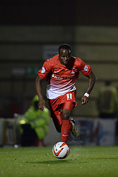 Leyton Orient's Moses Odubajo runs with the ball  - Photo mandatory by-line: Mitchell Gunn/JMP - Tel: Mobile: 07966 386802 17/09/2013 - SPORT - FOOTBALL -  Matchroom Stadium - London - Leyton Orient v Notts County - Sky Bet League One