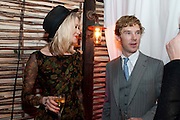 Siobhan Hewlett; Benedict Cumberbatch, InStyle's Best Of British Talent Party in association with Lancome. Shoreditch HouseLondon. 25 January 2011, -DO NOT ARCHIVE-© Copyright Photograph by Dafydd Jones. 248 Clapham Rd. London SW9 0PZ. Tel 0207 820 0771. www.dafjones.com.