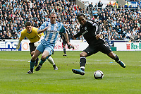 Photo: Steve Bond/Richard Lane Photography.<br /> Coventry City v Chelsea. FA Cup 6th Round. 07/03/2009. Didier Drogba lines up to put the ball into the Coventry net