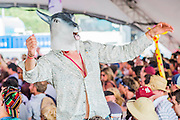 Idris Elba dj's on the Sonic Stage. The 2015 Glastonbury Festival, Worthy Farm, Glastonbury.