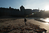France  Britany  Saint malo   the sea in front of