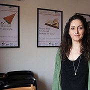 "Bologna, Italy, February 24, 2016. Silvia Ottaviano, educator at the International House for Women to be free from violence since 2004, first as a worker and since 2010 as head of ""Beyond the Road"", a regional project in agreement with the municipality of Bologna, which supports foreign women victims of trafficking, and helps to get out from situations of exploitation, both sexual and labor. The cases in which the project is concerned are for most cases of sexual exploitation. The final achievement is that of autonomy, both economic and housing."