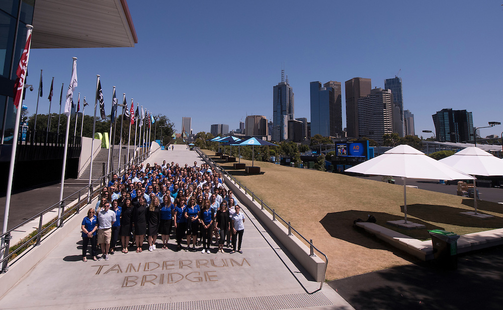 Tennis Australia staff photo on day twelve of the 2017 Australian Open at Melbourne Park on January 27, 2017 in Melbourne, Australia.<br /> (Ben Solomon/Tennis Australia)