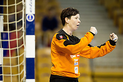 Sergeja Stefanisin reacts during handball match between Women National teams of Slovenia and Serbia in 2nd Round of Qualifications for 2014 EHF European Championship on October 27, 2013 in Hala Tivoli, Ljubljana, Slovenia. Slovenia defeated Serbia 31-26. (Photo by Vid Ponikvar / Sportida)
