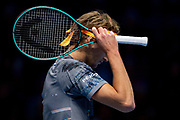 Alexander 'Sasha' Zverev of Germany during the Nitto ATP Finals at the O2 Arena, London, United Kingdom on 15 November 2019.