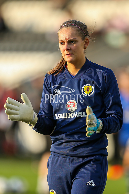 Jenna Fyie of Scotland warms up ahead of the 2019 FIFA Women's World Cup UEFA Qualifier match between Scotland Women and Switzerland at the Simple Digital Arena, St Mirren, Scotland on 30 August 2018.