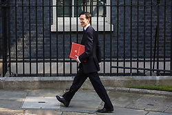 London, UK. 23 July, 2019.  Rory Stewart MP, Secretary of State for International Development, arrives at 10 Downing Street for the final Cabinet meeting of Theresa May's Premiership. The name of the new Conservative Party Leader, and so the new Prime Minister, will be announced at a special event following the meeting.