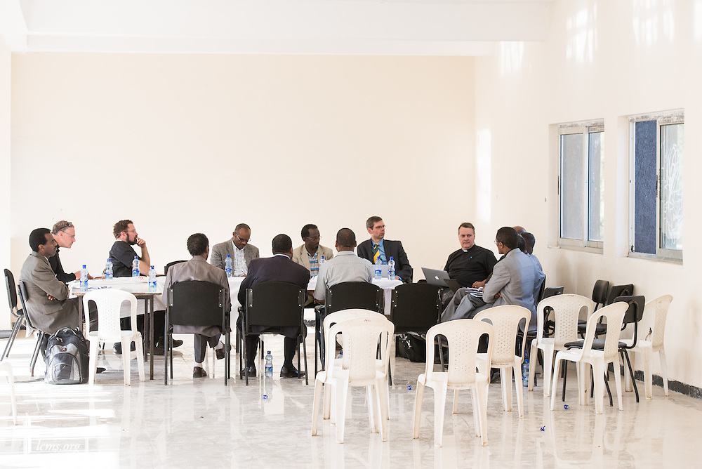 Members of the LCMS, the EECMY, and the Mekane Yesus Seminary participate in discussions at the seminary in Addis Ababa, Ethiopia, on Tuesday, Nov. 11, 2014. LCMS Communications/Erik M. Lunsford