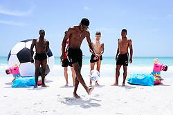 Hakeeb Adelakun, Callum O'Dowda, Tyreeq Bakinson, Niclas Eliasson and Jamie Paterson of Bristol City during a promotional trip to Bradenton Beach - Rogan/JMP - 15/07/2019 - IMG Academy, Bradenton - Florida, USA - Bristol City Pre-Season Tour Day 5.