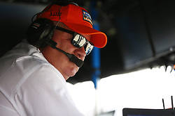April 13, 2018 - Long Beach, California, United States of America - April 13, 2018 - Long Beach, California, USA: Chip Ganassi sits on the outbox of Scott Dixon (9) and overlooks the opteration during practice for the Toyota Grand Prix of Long Beach at Streets of Long Beach in Long Beach, California. (Credit Image: © Justin R. Noe Asp Inc/ASP via ZUMA Wire)
