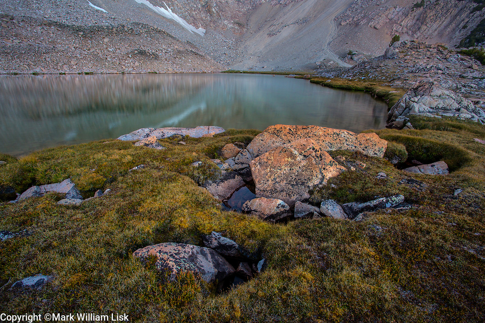 Slide Lake sits in a high bench above 10,000 feet in the White Cloud Wilderness.