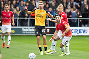 Salford City midfielder Tom Walker going for the ball during the EFL Sky Bet League 2 match between Salford City and Cambridge United at Moor Lane, Salford, United Kingdom on 12 October 2019.