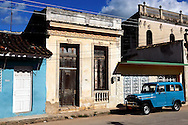 Old American car in Guines, Mayabeque Province, Cuba.