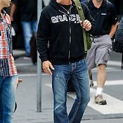 NLD/Amsterdam/20120926 - Aankomst amerikaanse acteur Michael Dudikoff op Schiphol,