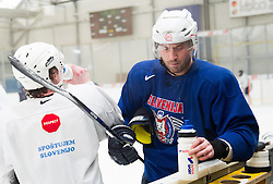 Sabahudin Kovacevic during practice session of Slovenian Ice Hockey National Team for IIHF World Championship in Sweden and Finland, on March 28, 2013, in Arena Zlato Polje, Kranj, Slovenia. (Photo by Vid Ponikvar / Sportida.com)