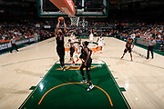 January 3, 2019: Torin Dorn #2 of North Carolina State in action during the NCAA basketball game between the Miami Hurricanes and the North Carolina State Wolfpack in Coral Gables, Florida. The Wolfpack defeated the 'Canes 87-82.