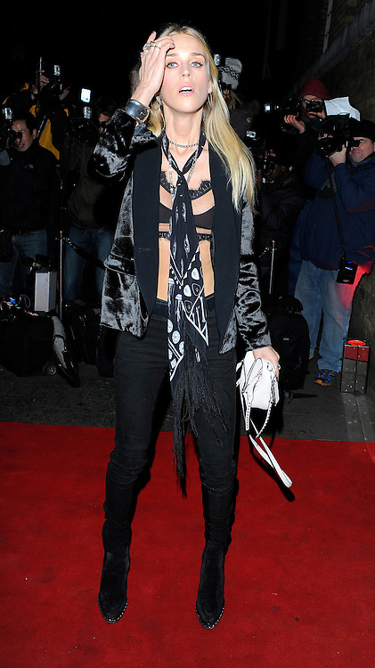 Mary Charteris attends the YSL Beauty: YSL Loves Your Lips party at The Boiler House,The Old Truman Brewer in London, UK. 20/01/2015<br />