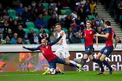 Haitam Aleesami of Norway and Andraz Sporar of Slovenia during football match between National Teams of Slovenia and Norway in Final Tournament of UEFA Nations League 2019, on November 16, 2018 in SRC Stozice, Ljubljana, Slovenia. Photo by Urban Urbanc / Sportida