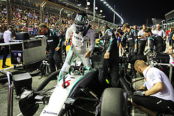 Nico Rosberg (GER) Mercedes AMG F1 W07 Hybrid on the grid.<br /> <br />  beim GP von Singapur 2016 in Singapur / 180916<br /> <br /> *** Formula One Grand Prix of Singapore at Marina Bay Street Circuit on September 18, 2016 in Singapore ***