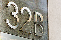 Close up of house number 32 B
