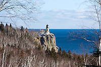 Split rock lighthouse on Minnesota's rugged Lake Superior North Shore.