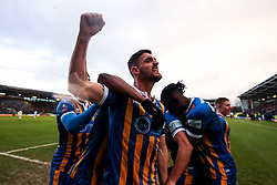 Luke Waterfall of Shrewsbury Town celebrates scoring a goal to make it 2-0 - Mandatory by-line: Robbie Stephenson/JMP - 26/01/2019 - FOOTBALL - Montgomery Waters Meadow - Shrewsbury, England - Shrewsbury Town v Wolverhampton Wanderers - Emirates FA Cup fourth round