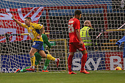 Accrington Stanley forward Billy Kee  with Accrington Stanley  second goal during the Sky Bet League 2 match between York City and Accrington Stanley at Bootham Crescent, York, England on 28 November 2015. Photo by Simon Davies.
