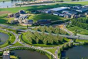 Nederland, Gelderland, Arnhem, 29-05-2019; Knooppunt Velperbroek, kruising A12 met N325. Verkeersplein en rotonde.<br /> Velperbroek junction, motorway A12.<br /> luchtfoto (toeslag op standard tarieven);<br /> aerial photo (additional fee required);<br /> copyright foto/photo Siebe Swart