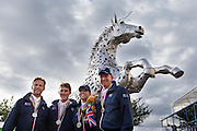 Carl Hester - Michael Eilberg - Charlotte Dujardin - Gareth Hughes team GBR winnen zilver landenwedstrijd<br /> Alltech FEI World Equestrian Games™ 2014 - Normandy, France.<br /> © DigiShots