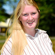 Bath, Maine -- August 28, 2019 -- Lizzie S. Photographed at Bath Town Park. 1 hour total shooting time on location. <br /> Professional Portrait Photo by Roger S. Duncan  207-443-9665 <br /> http://www.rogerduncanphoto.com