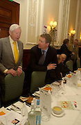 Martin Bell, Sandy Gall and Rory Bremner, The Oldie of the Year Awards lunch, Simpson's -in-the-Strand, London. 18 March 2003. © Copyright Photograph by Dafydd Jones 66 Stockwell Park Rd. London SW9 0DA Tel 020 7733 0108 www.dafjones.com
