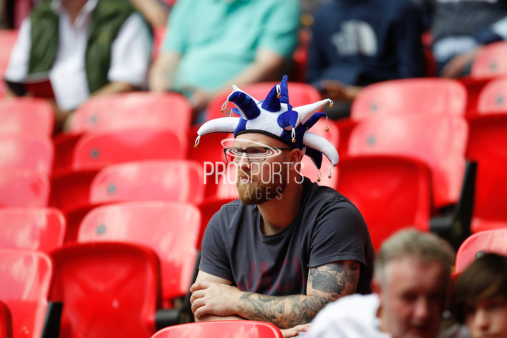 Tranmere Rovers football fan, football supporters, during the EFL Sky Bet League 2 Play Off Final match between Newport County and Tranmere Rovers at Wembley Stadium, London, England on 25 May 2019.