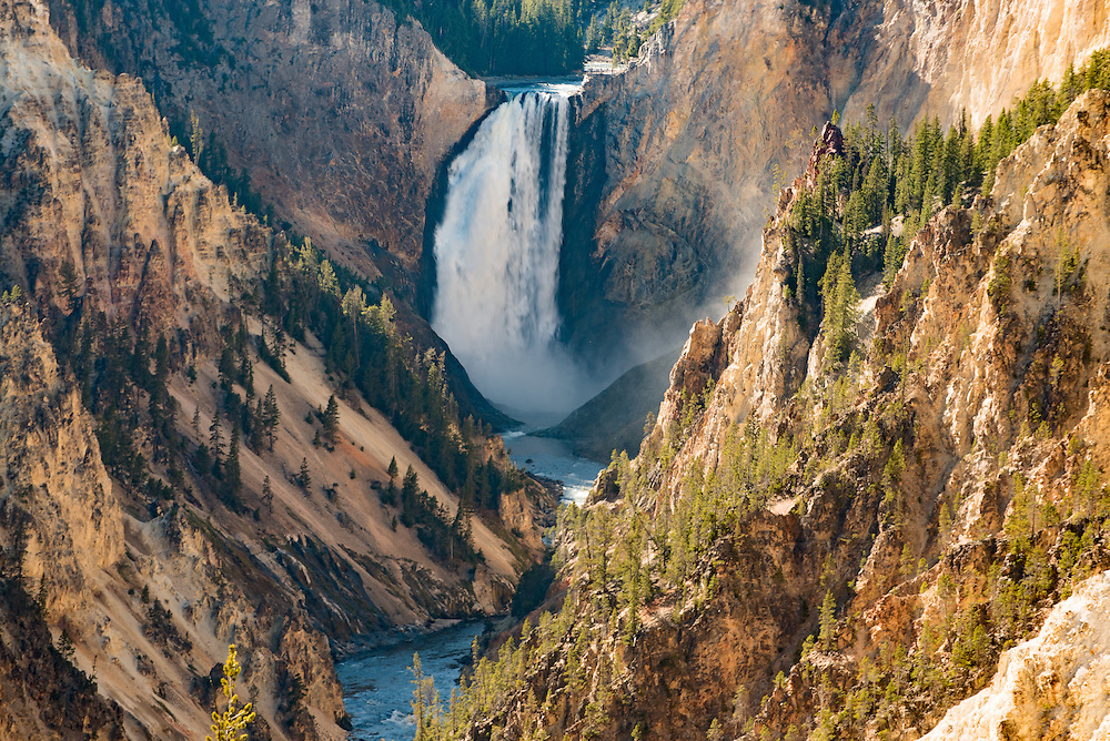 Landscape of Yellowstone Lower Falls from Artists Point