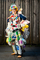 Beth Terry wearing her Bay to Breakers costume inspired by the Pacific Garbage Patch.