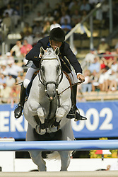 Eriksson Peter, SWE, VDL Cardento<br /> Final 25 round 1<br /> World Equestrian Games Jerez de la Fronteira 2002<br /> Photo © Dirk Caremans