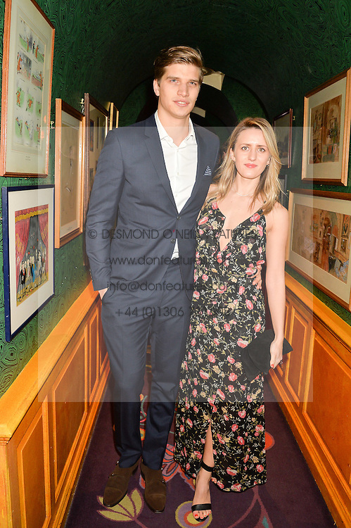 TOBY HUNTINGTON-WHITELEY and CICELY BROWN at the 2nd Bright Young Things Back In London party held at Annabel's, 44 Berkeley Square, London on 11th February 2016.