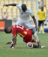 FOOTBALL - AFRICAN NATIONS CUP 2010 - GROUP B - BURKINA FASO v GHANA - 19/01/2010 - PHOTO MOHAMED KADRI / DPPI - MAHAMADOU KERE (BUR) / ANDRE AYEW (GHA)