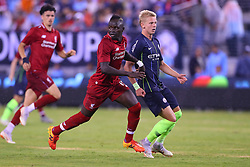 July 25, 2018 - East Rutherford, NJ, U.S. - EAST RUTHERFORD, NJ - JULY 25:   Liverpool forward Sadio Mane (10) during the second half of the International Champions Cup Soccer game between Liverpool and Manchester City on July 25, 2018 at Met Life Stadium in East Rutherford, NJ.  (Photo by Rich Graessle/Icon Sportswire) (Credit Image: © Rich Graessle/Icon SMI via ZUMA Press)