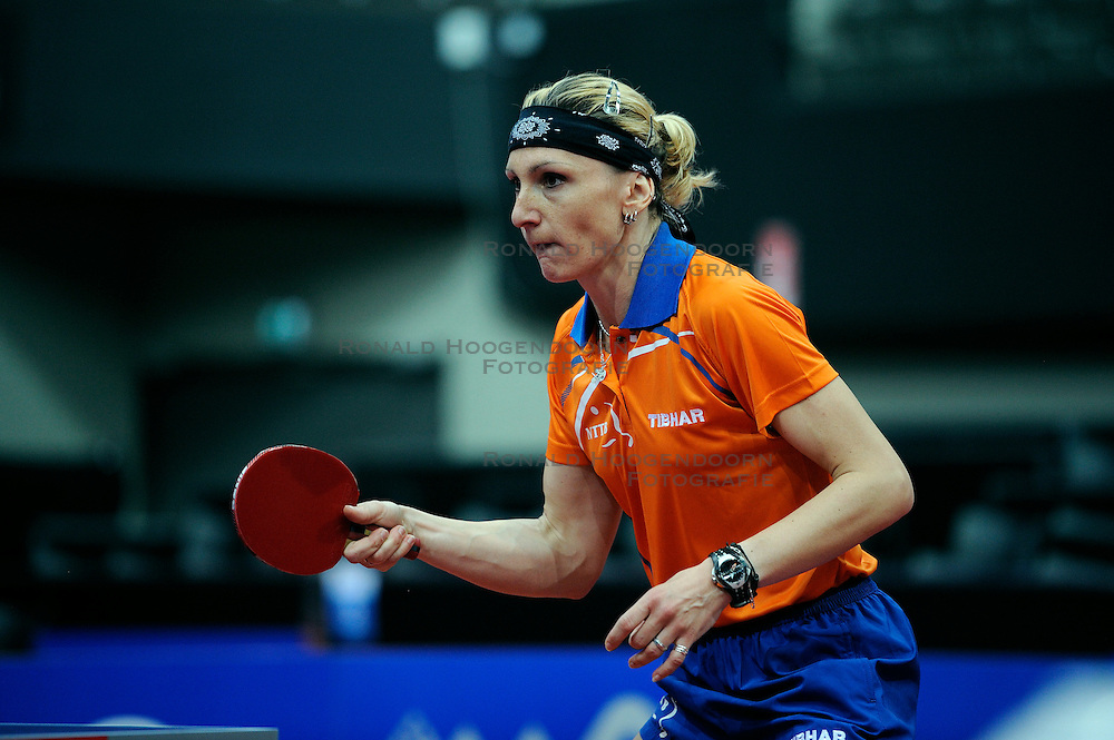 09-05-2011 TAFELTENNIS: WORLD TABLE TENNIS CHAMPIONSHIPS: ROTTERDAM<br /> Yana Timina NED<br /> &copy;2011-FotoHoogendoorn.nl