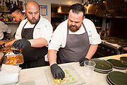New York, NY - April 5, 2018:  Chef Andrew Chadwick and his team from Sea Glass at Inn by the Sea presents dinner at the James Beard House in Greenwich Village.<br /> <br /> CREDIT: Clay Williams for The James Beard Foundation.<br /> <br /> &copy; Clay Williams / http://claywilliamsphoto.com