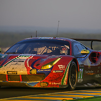 #71, AF Corse Ferrari, Ferrari 488 GTE, driven by: Davide Rigon, Sam Bird, Miguel Molina, 24 Heures Du Mans 85th Edition, 18/06/2017,