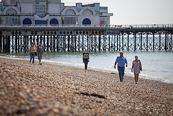 © Licensed to London News Pictures. 21/06/2014. Southsea, Hampshire, UK. People enjoying the sunny weather on the beach in Southsea, Hampshire today (21st June 2014). The weather in the UK over the weekend is set to be warm and sunny. Photo credit : Rob Arnold/LNP