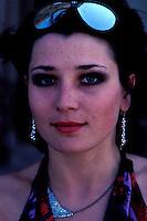 Ouzbekistan - Tashkent - Jeune femme metis Ouzbek/tadjik // Uzbekistan, Tashkent, Young metis Uzbek/Tadjik