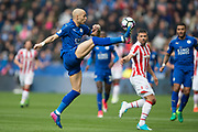 Leicester City defender Yohan Benalouane (29) during the Premier League match between Leicester City and Stoke City at the King Power Stadium, Leicester, England on 1 April 2017. Photo by Jon Hobley.